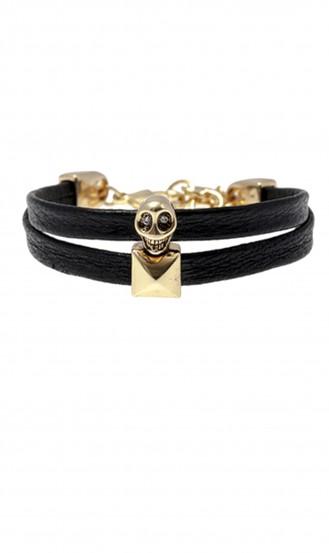 Leather-Skull-Bracelet