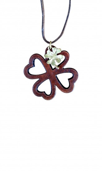 Brown-Leather-4-Leaf-Clover