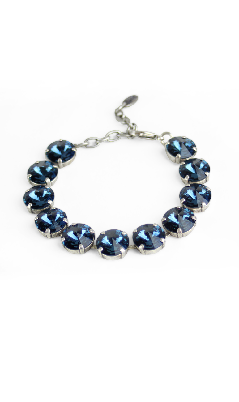 adjustable tenni lightbox blue collection friendship stone bracelet mctavish product